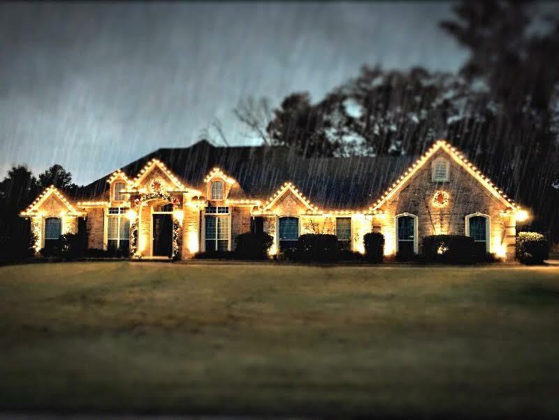 Christmas Light Installation.Christmas Light Installation